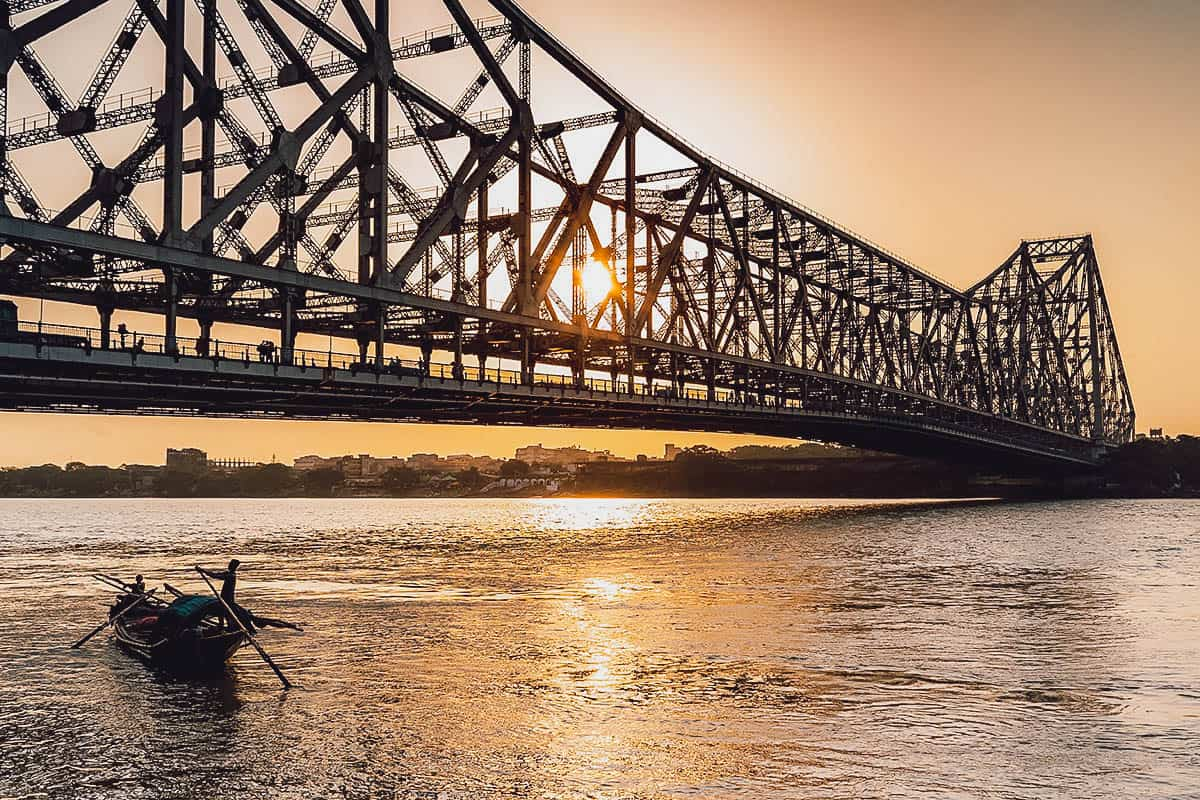 Howrah Bridge at sunset