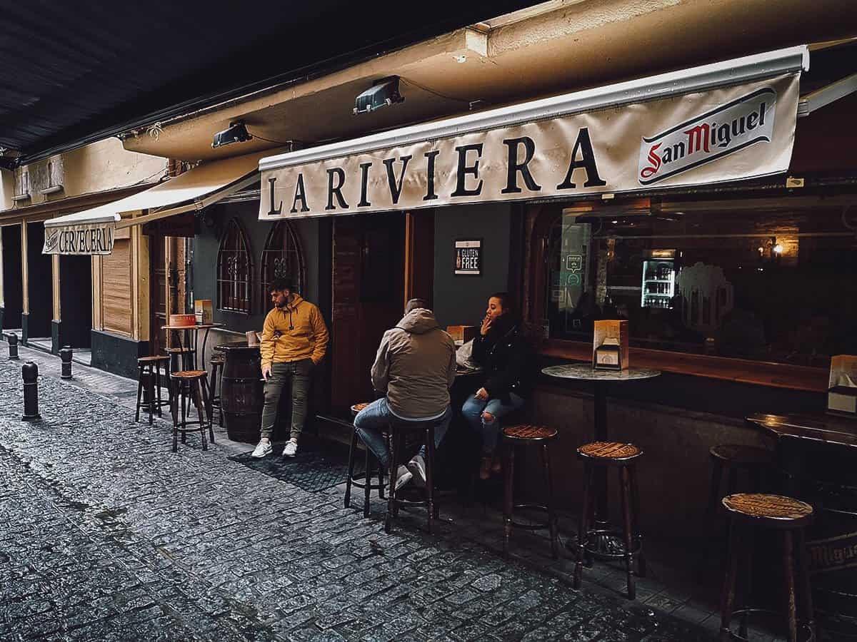 Tapas at La Riviera in Granada, Spain