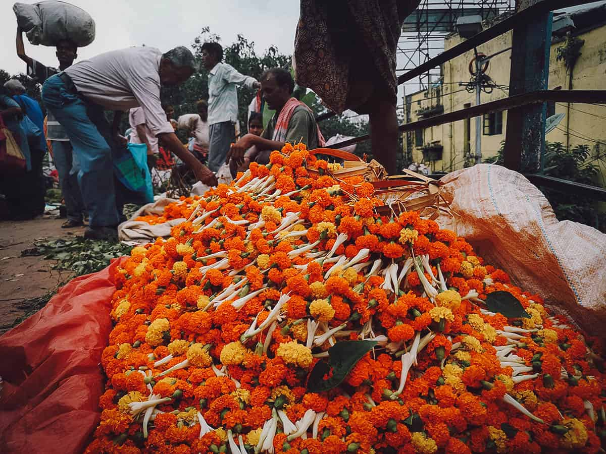 Mallick Ghat Flower Market, Kolkata, India
