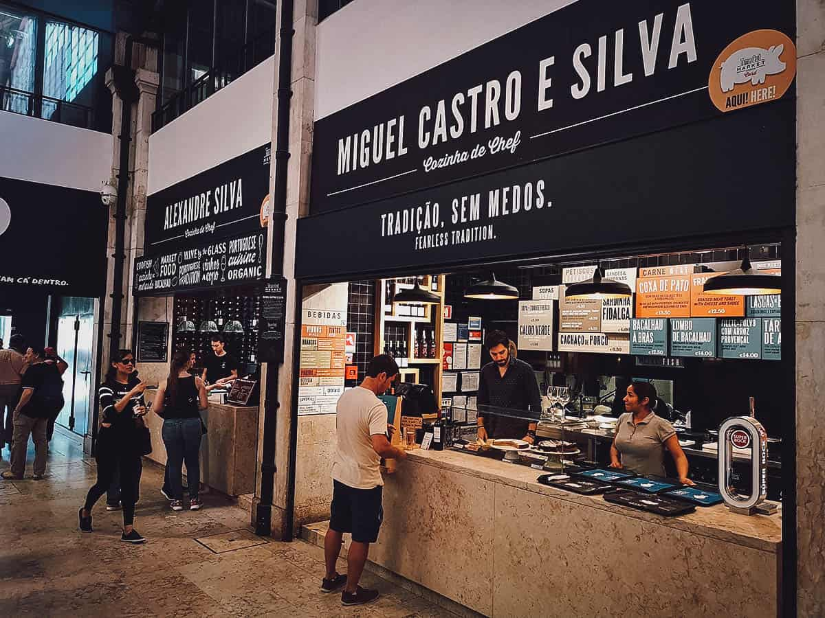 Miguel Castro e Silva stall at Time Out Market, Lisbon, Portugal