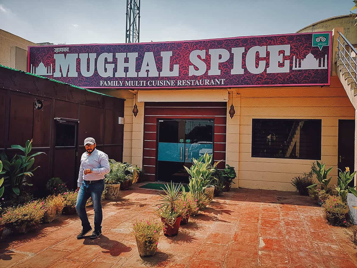 Lunch at Mughal Spice in Agra, India