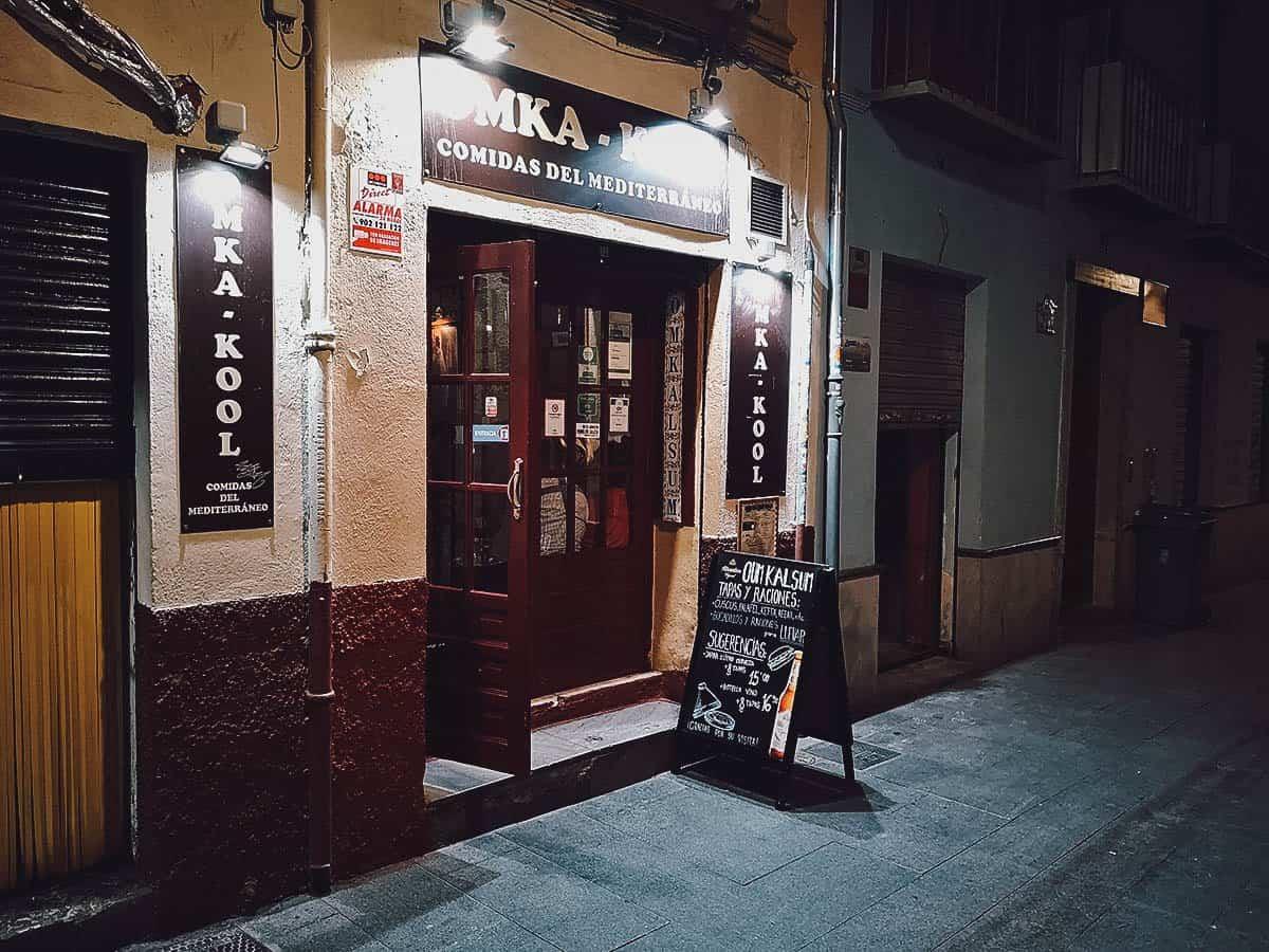 Tapas at Oum Kalsum in Granada, Spain