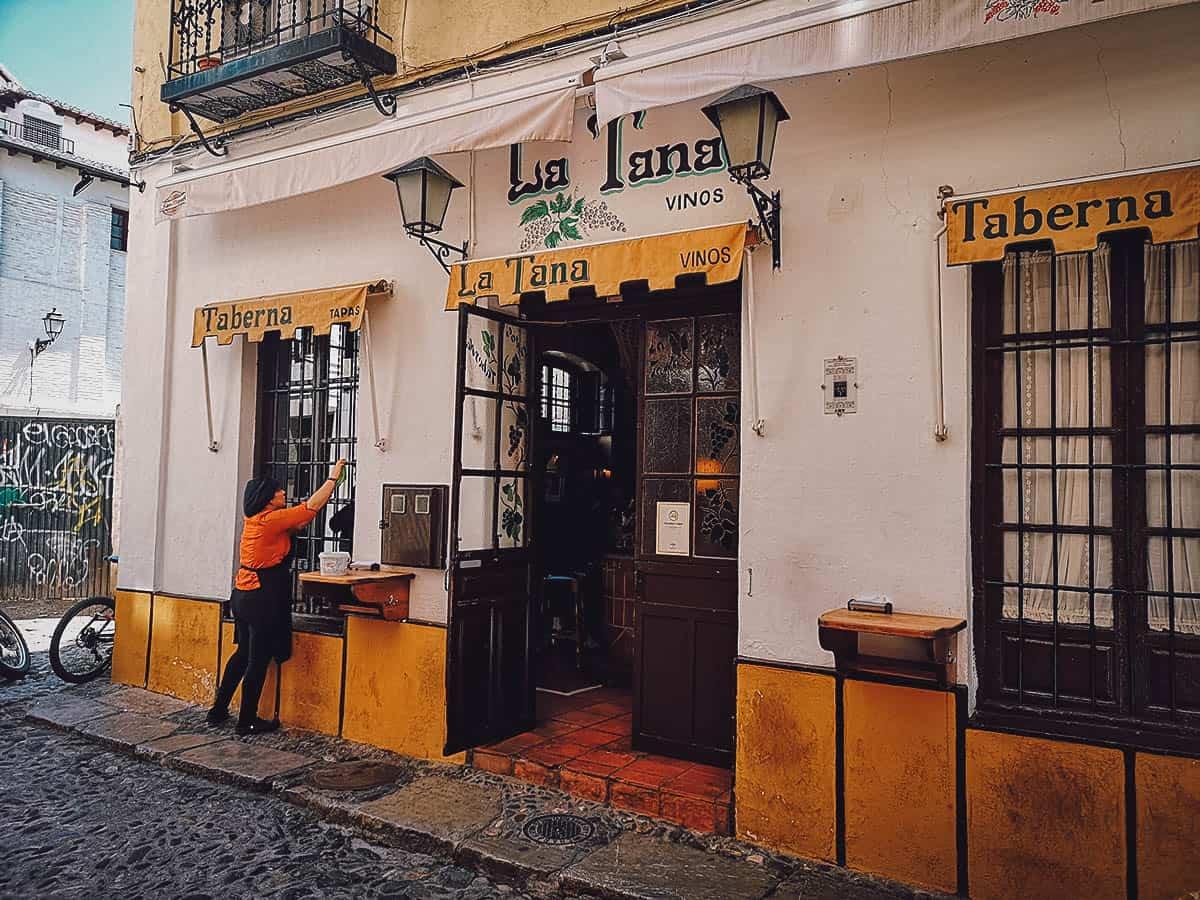 Tapas at Taberna La Tana in Granada, Spain