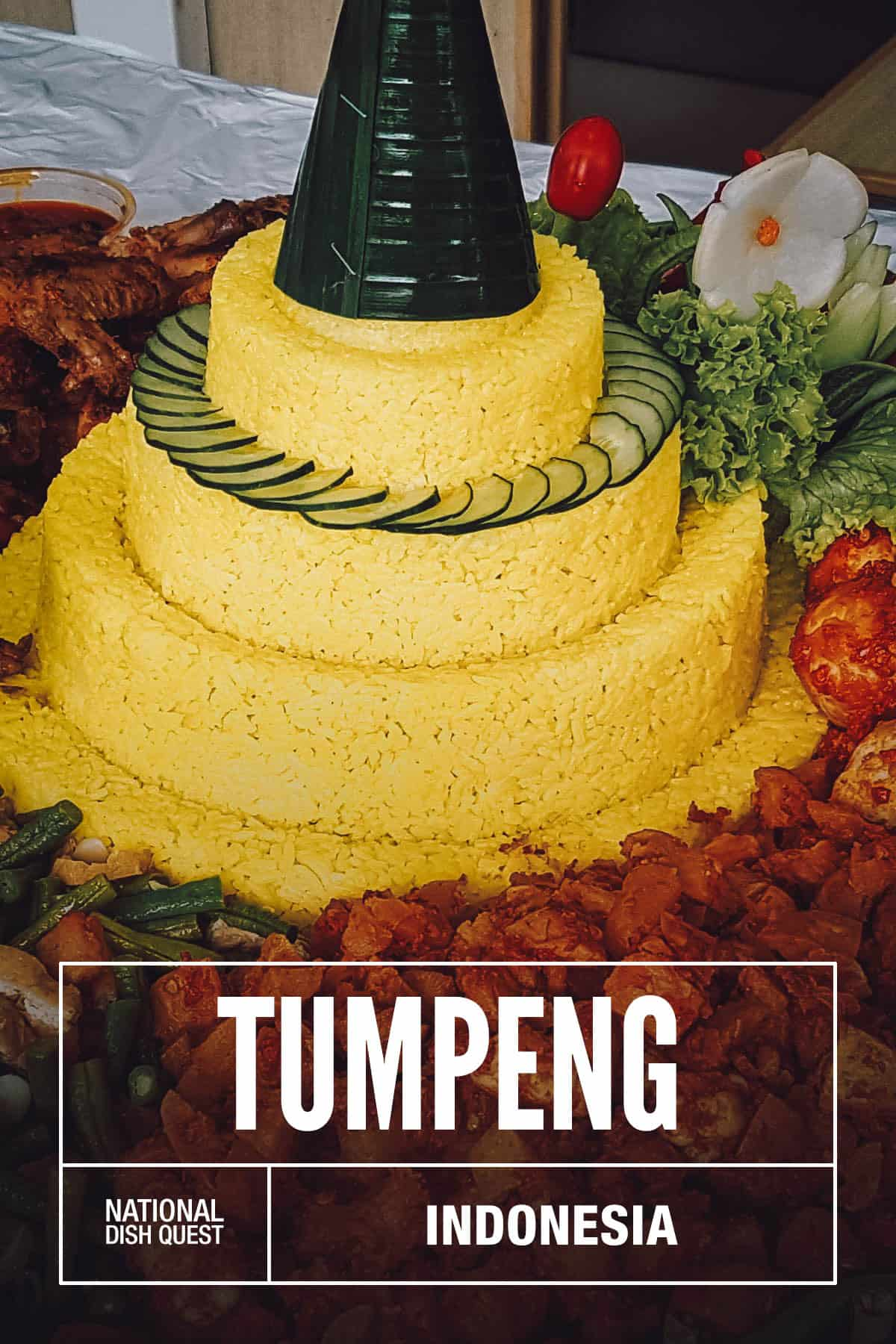 Indonesian tumpeng