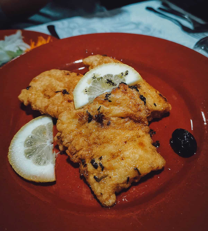 Salted cod at Adega Vila Mea