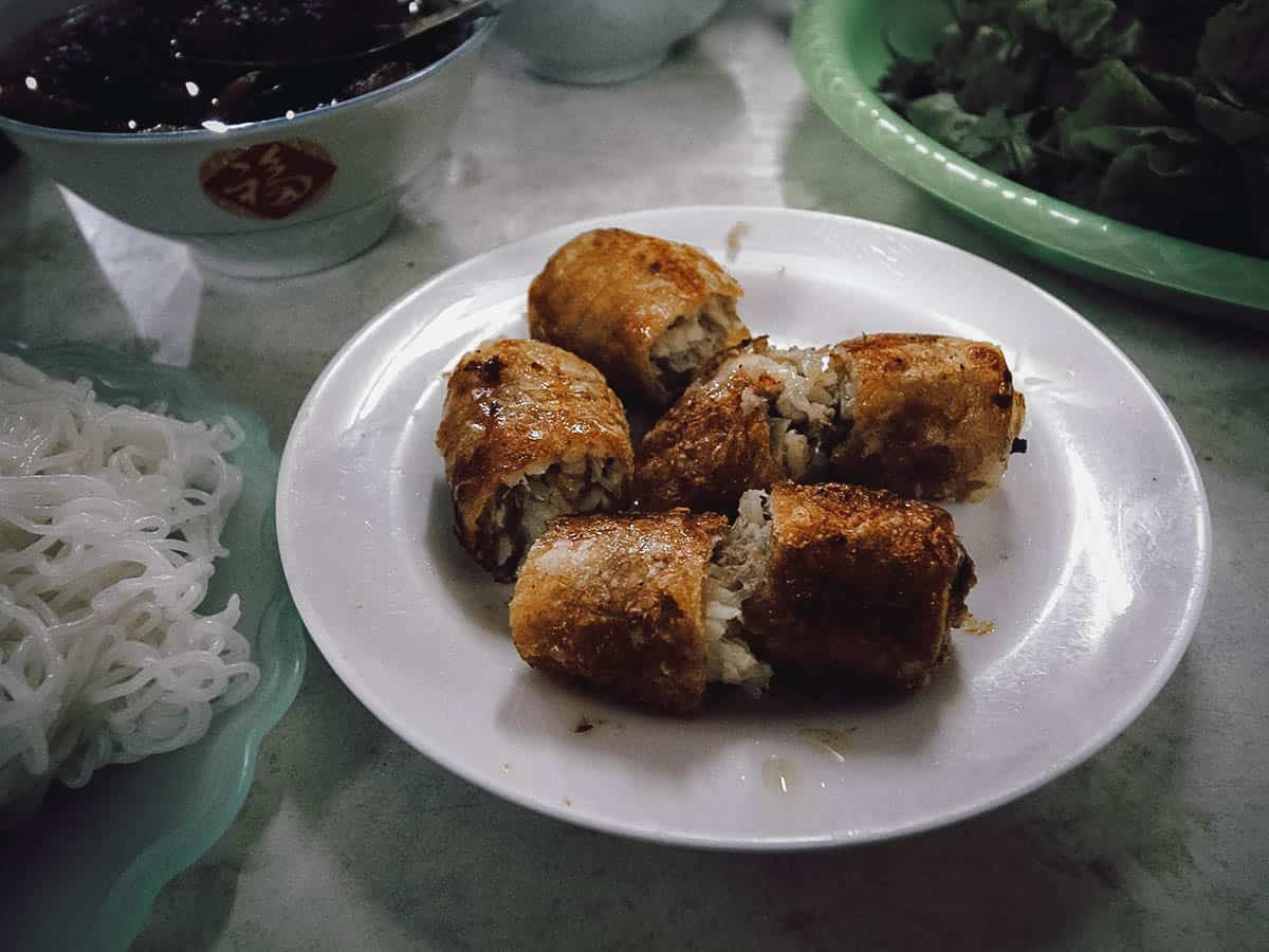 Nem cua be at Bun Cha Dac Kim