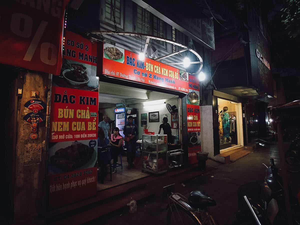 Bun Cha Dac Kim shop