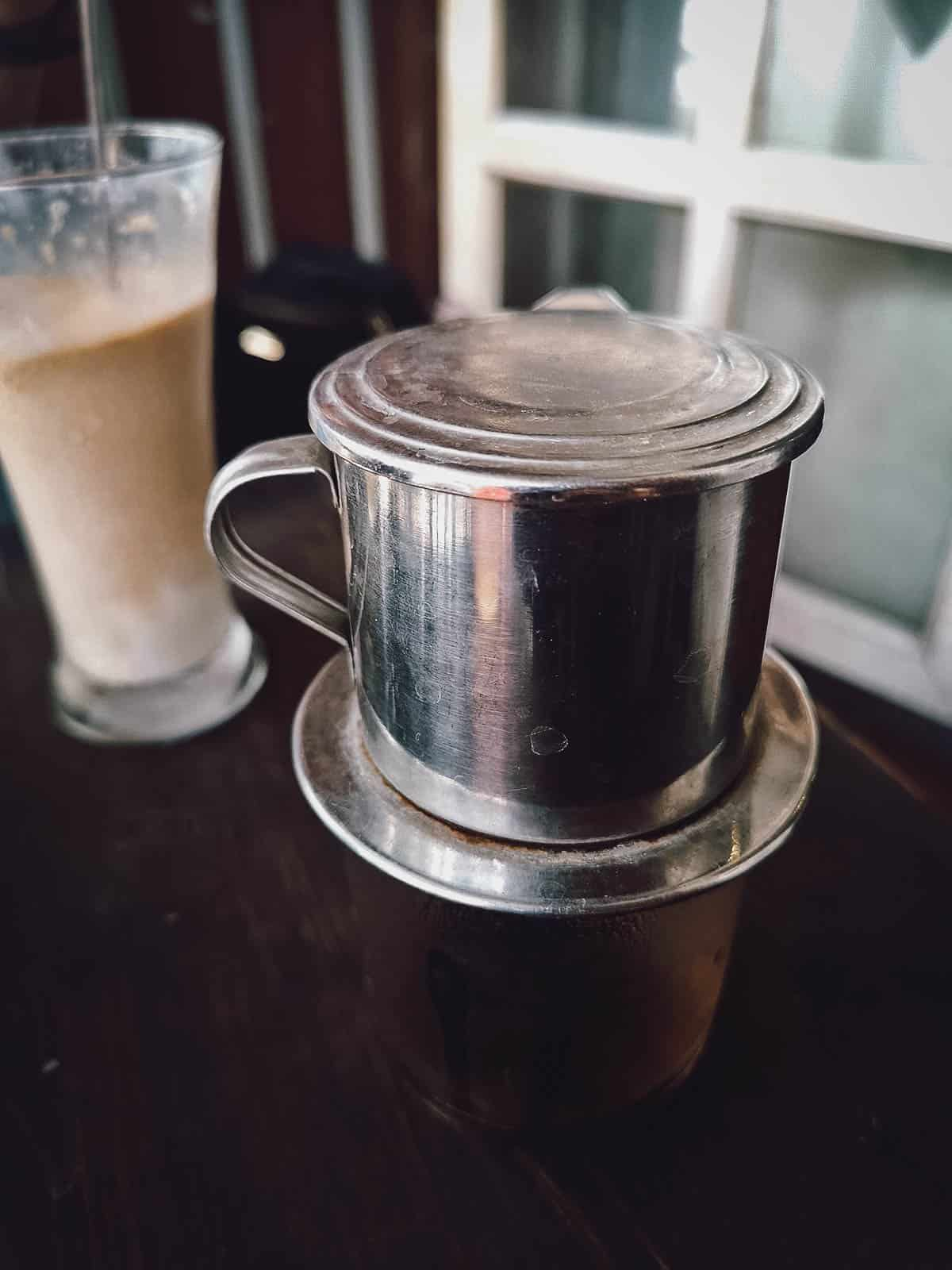 Slow drip coffee at Ca Phe Duy Tri