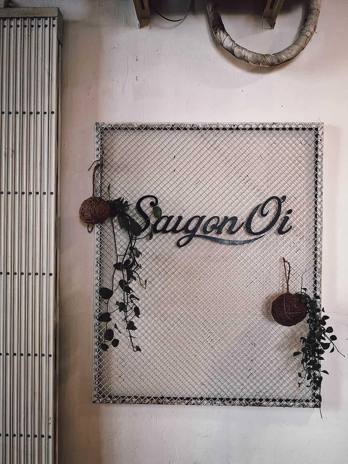 Saigon Oi signage