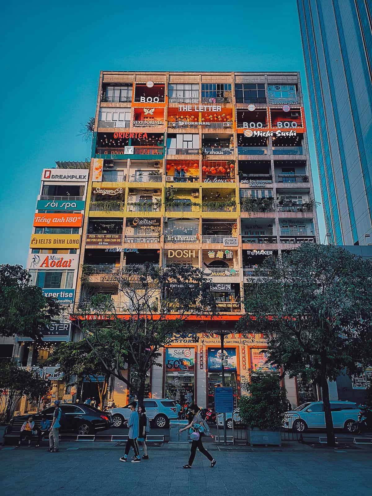 The Cafe Apartments facade