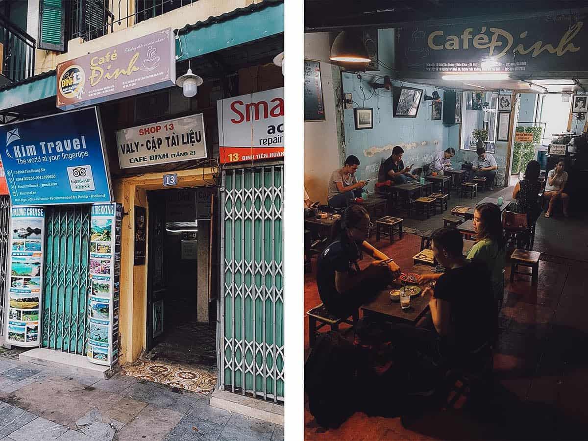 Cafe Dinh, Hanoi, Vietnam