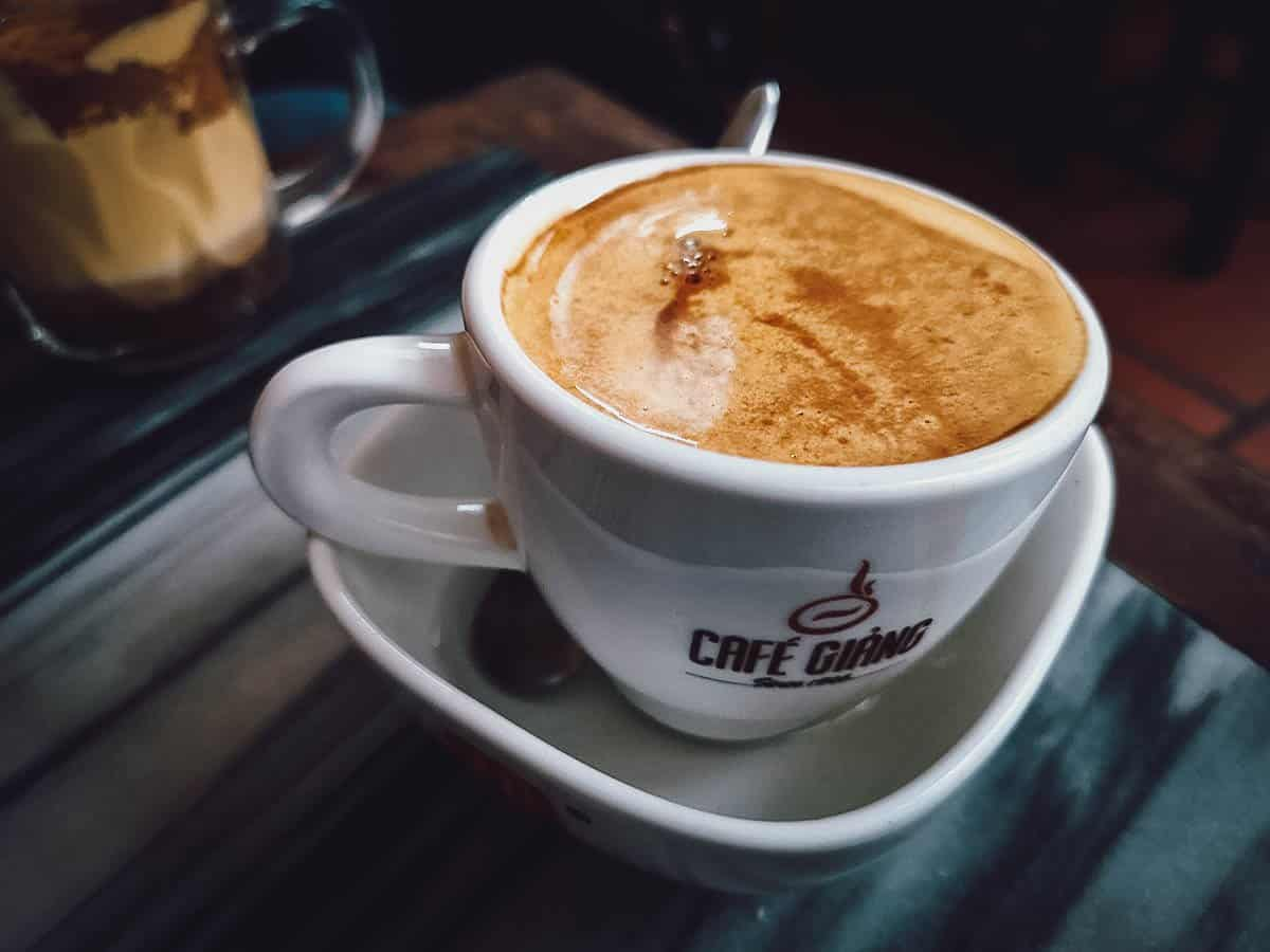 Egg coffee at Cafe Giang