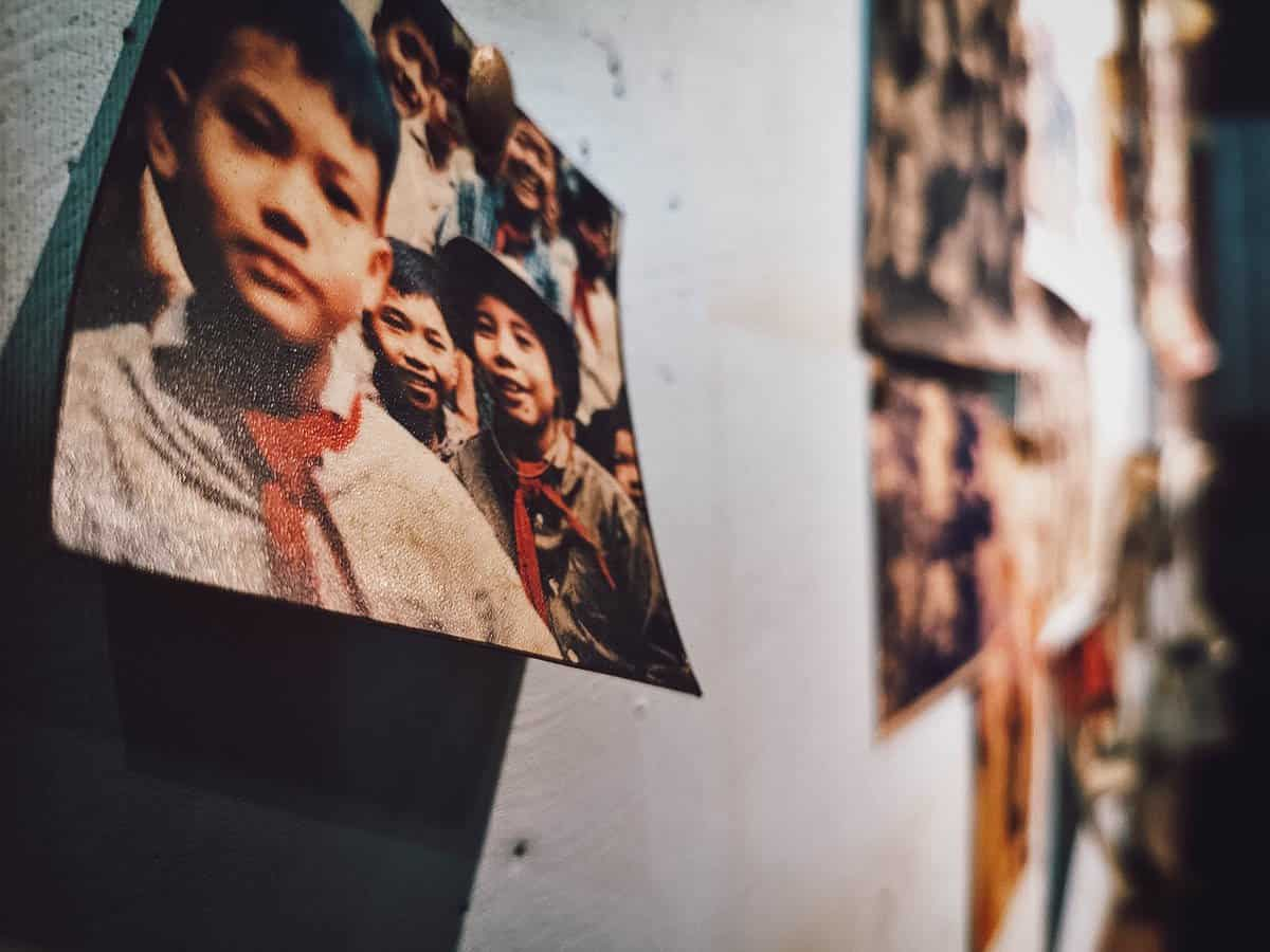 Viet-Cong-themed pictures at Cong Ca Phe