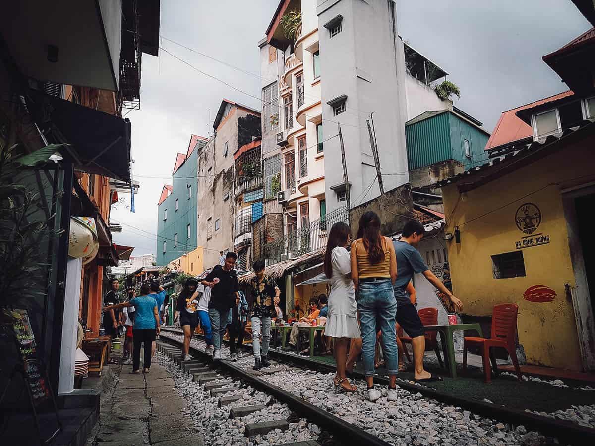 Hanoi train tracks, Vietnam