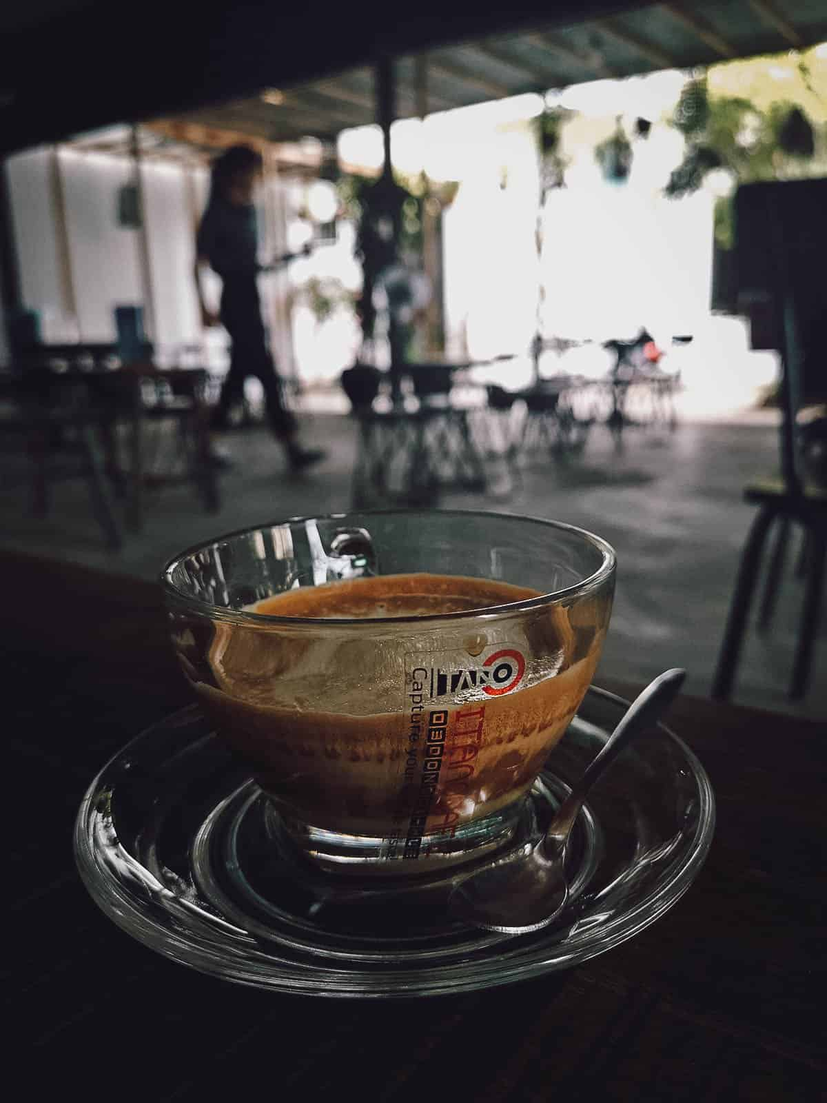 Salt coffee at Itano Cafe in Hue, Vietnam