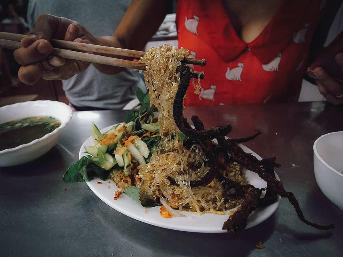 Mien luon at Dong Thinh Nha Hang Mien Luon