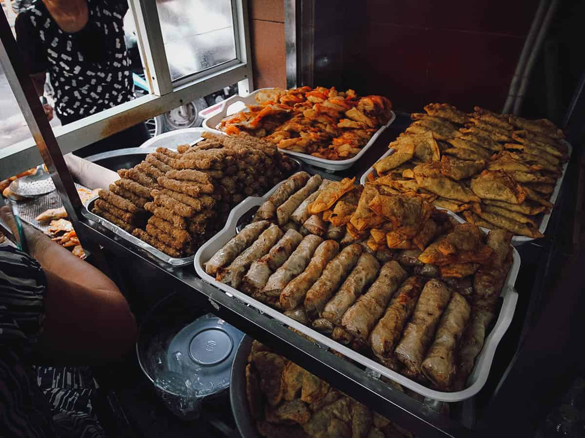 Deep-fried fritters at Quán Gốc Đa