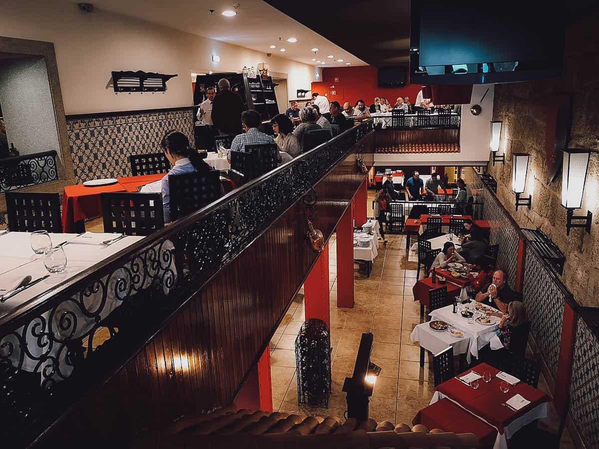 Interior of Restaurante Abadia do Porto
