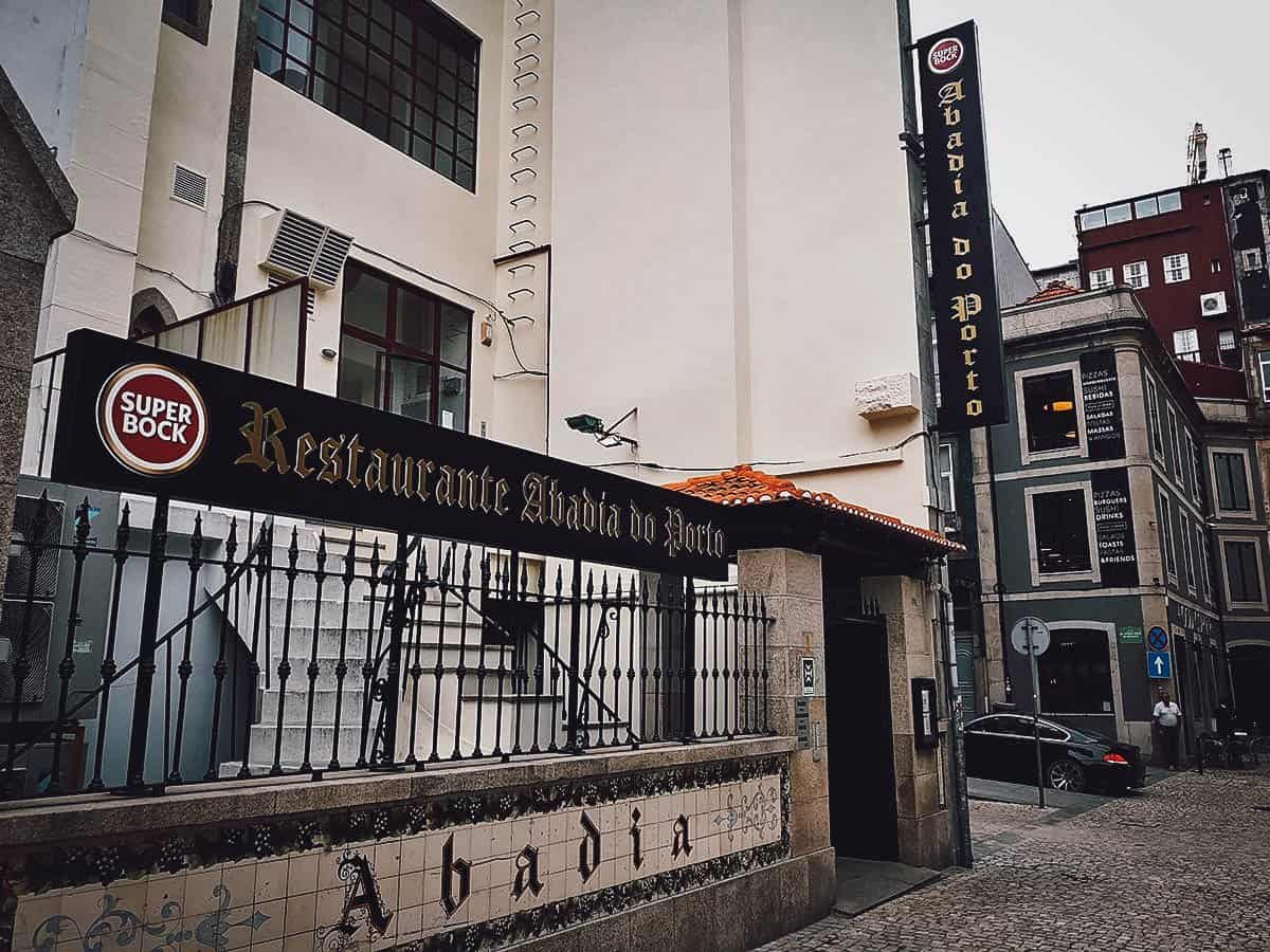Frontage of Restaurante Abadia do Porto