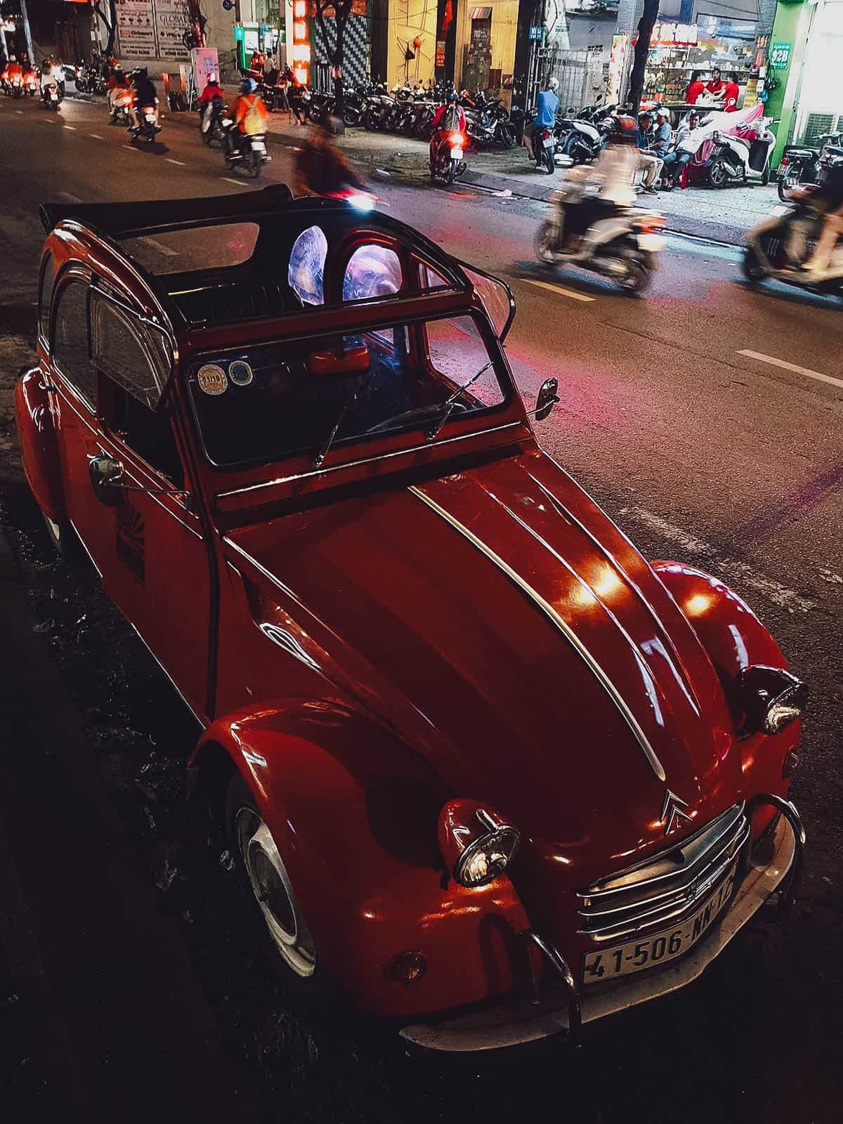 Vintage Citroen 2CV in Saigon
