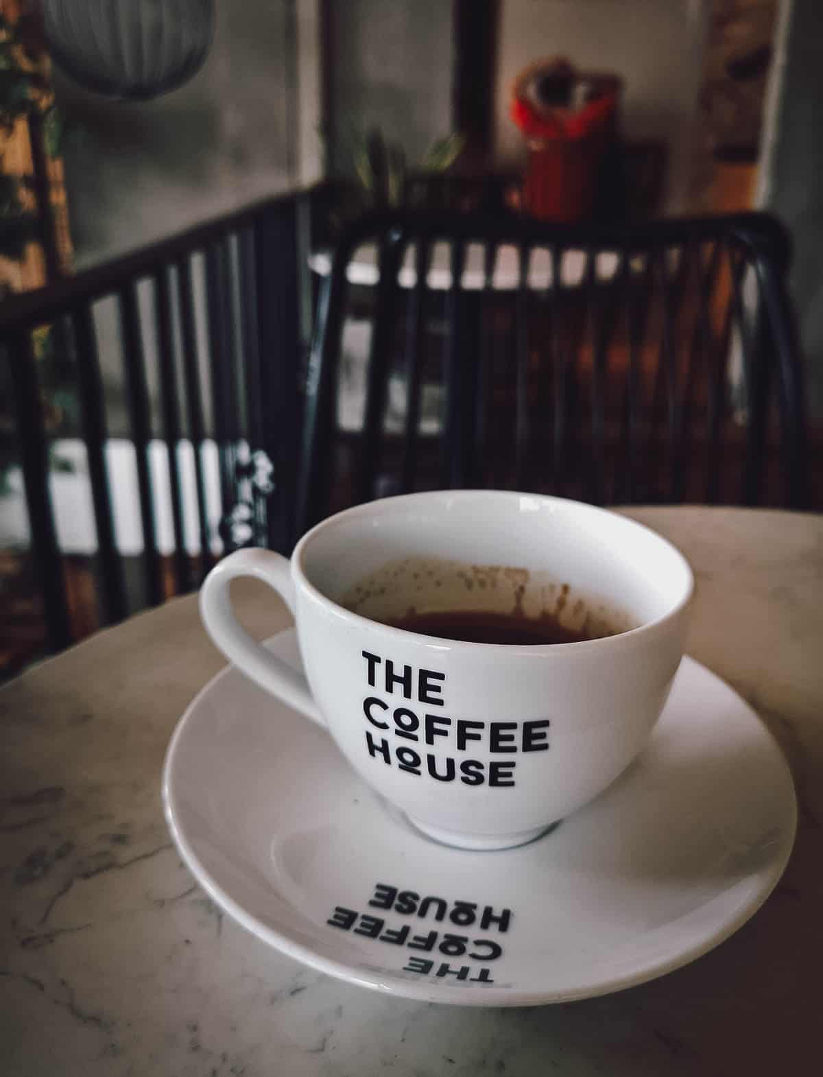 Black coffee at The Coffee House