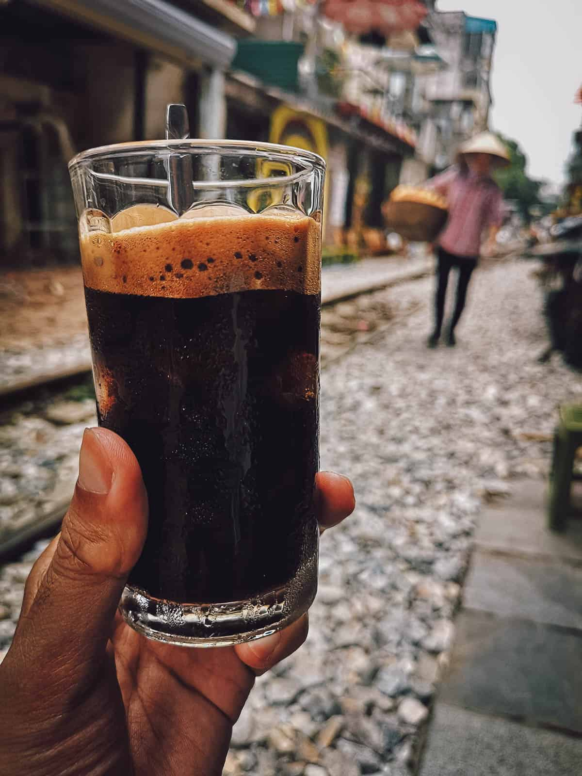 Black coffee at The Railway Hanoi