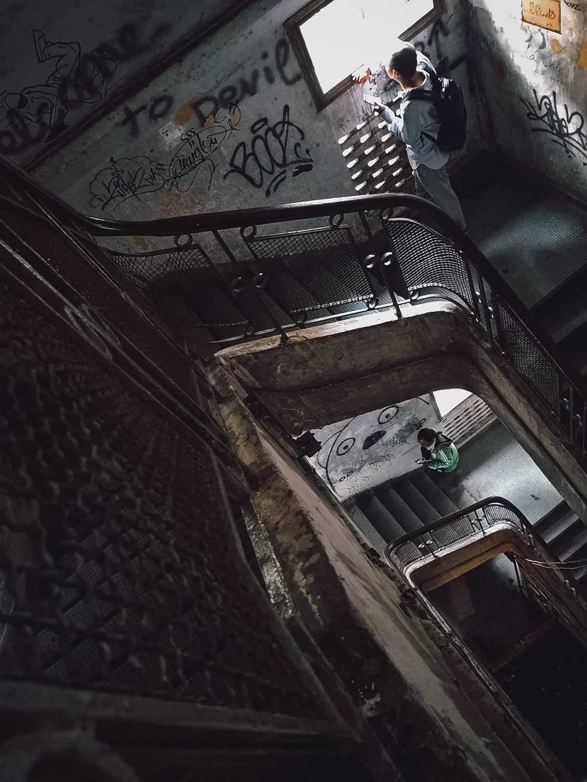 Stairwell inside the Ton That Dam building