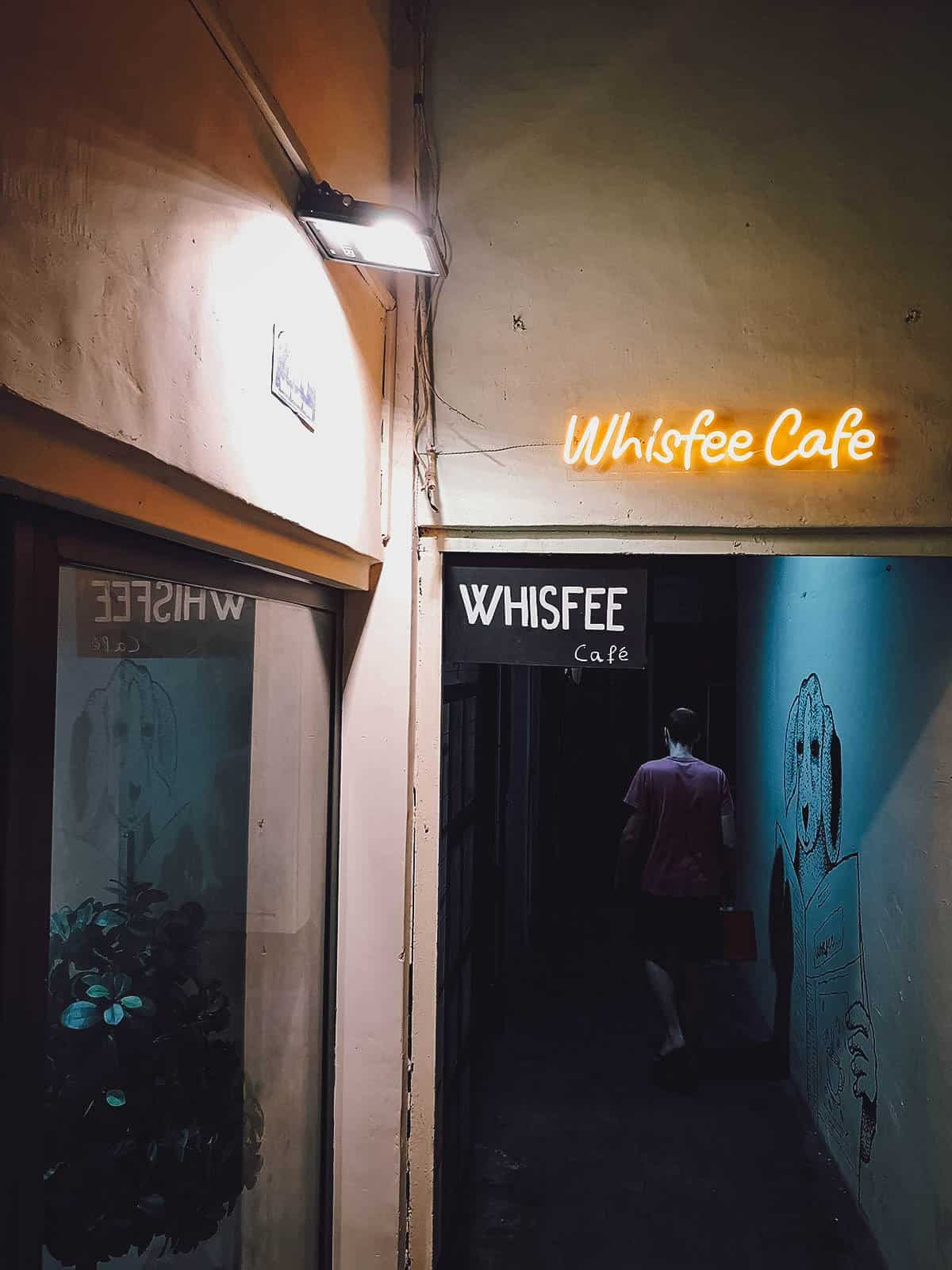 Whisfee Cafe sign