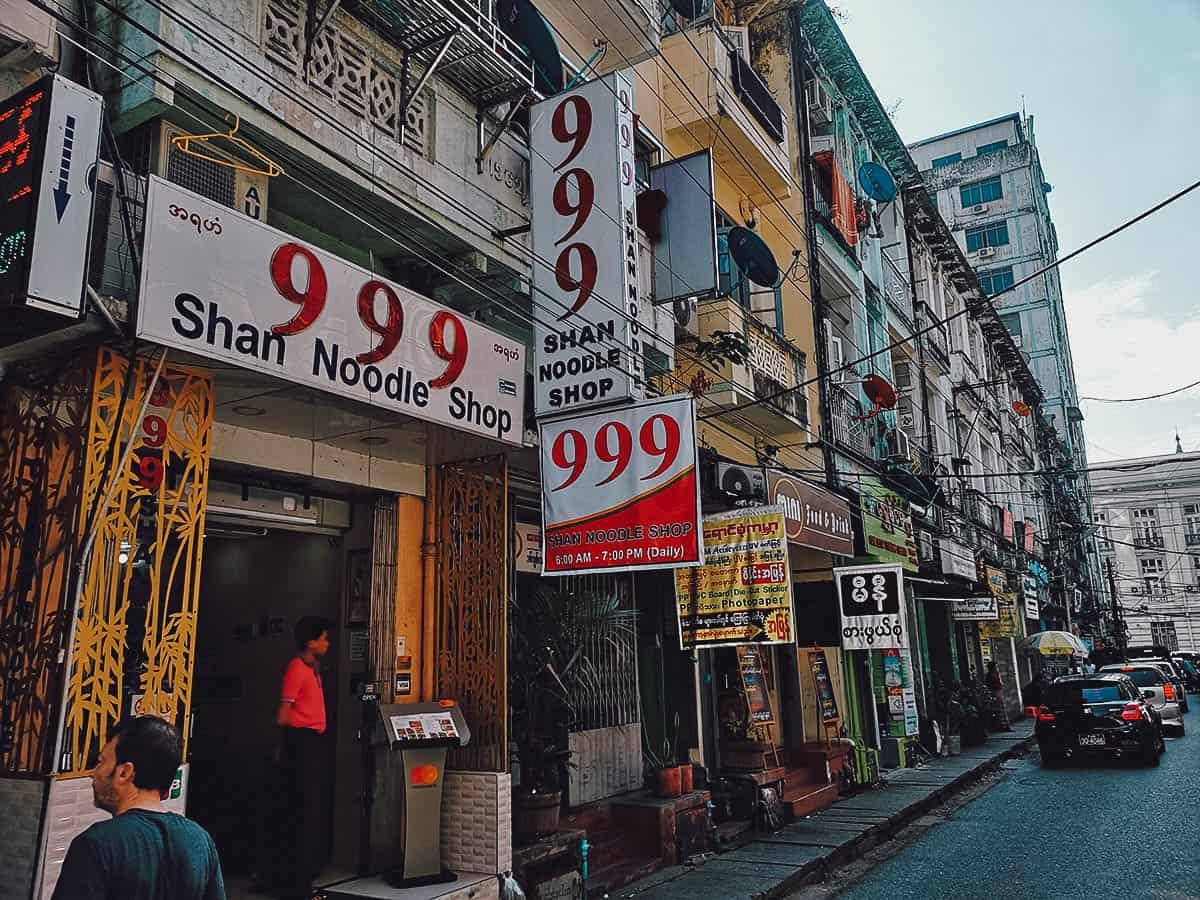 999 Shan Noodle Shop, Yangon, Myanmar