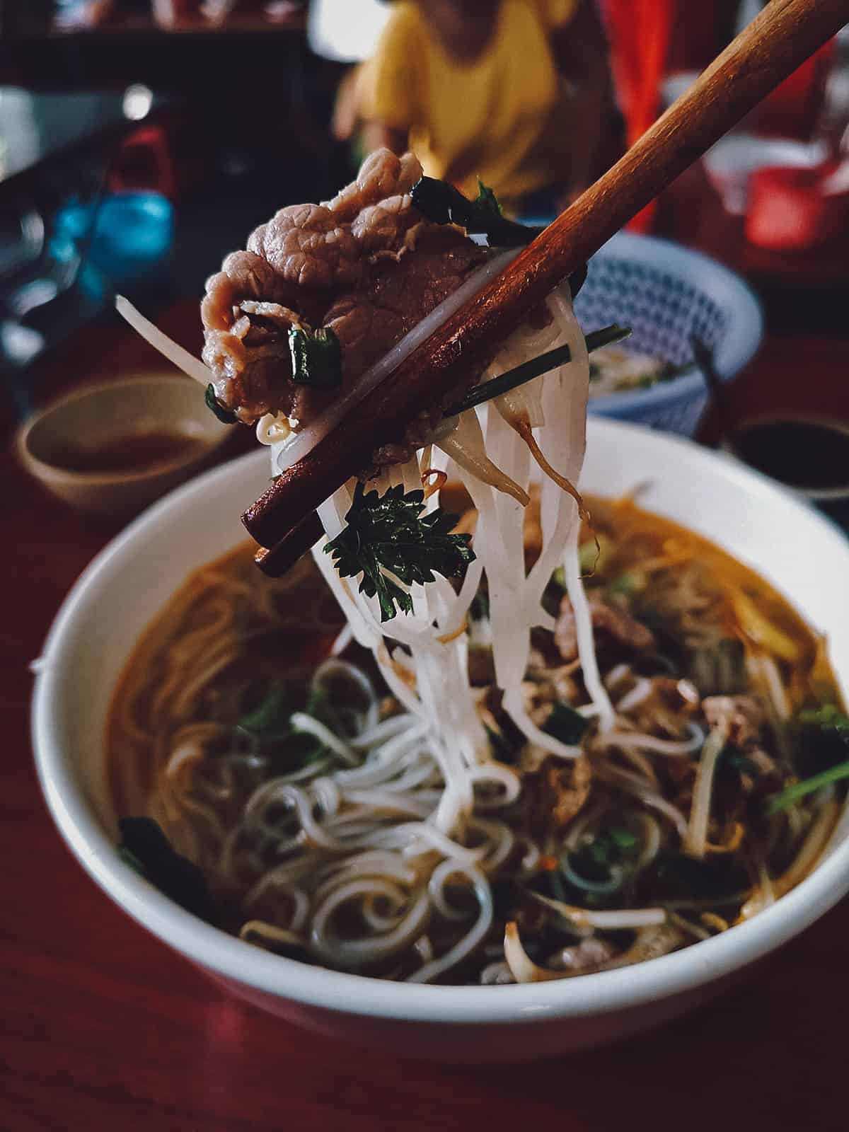Bun bo hue at Hanh in Vietnam