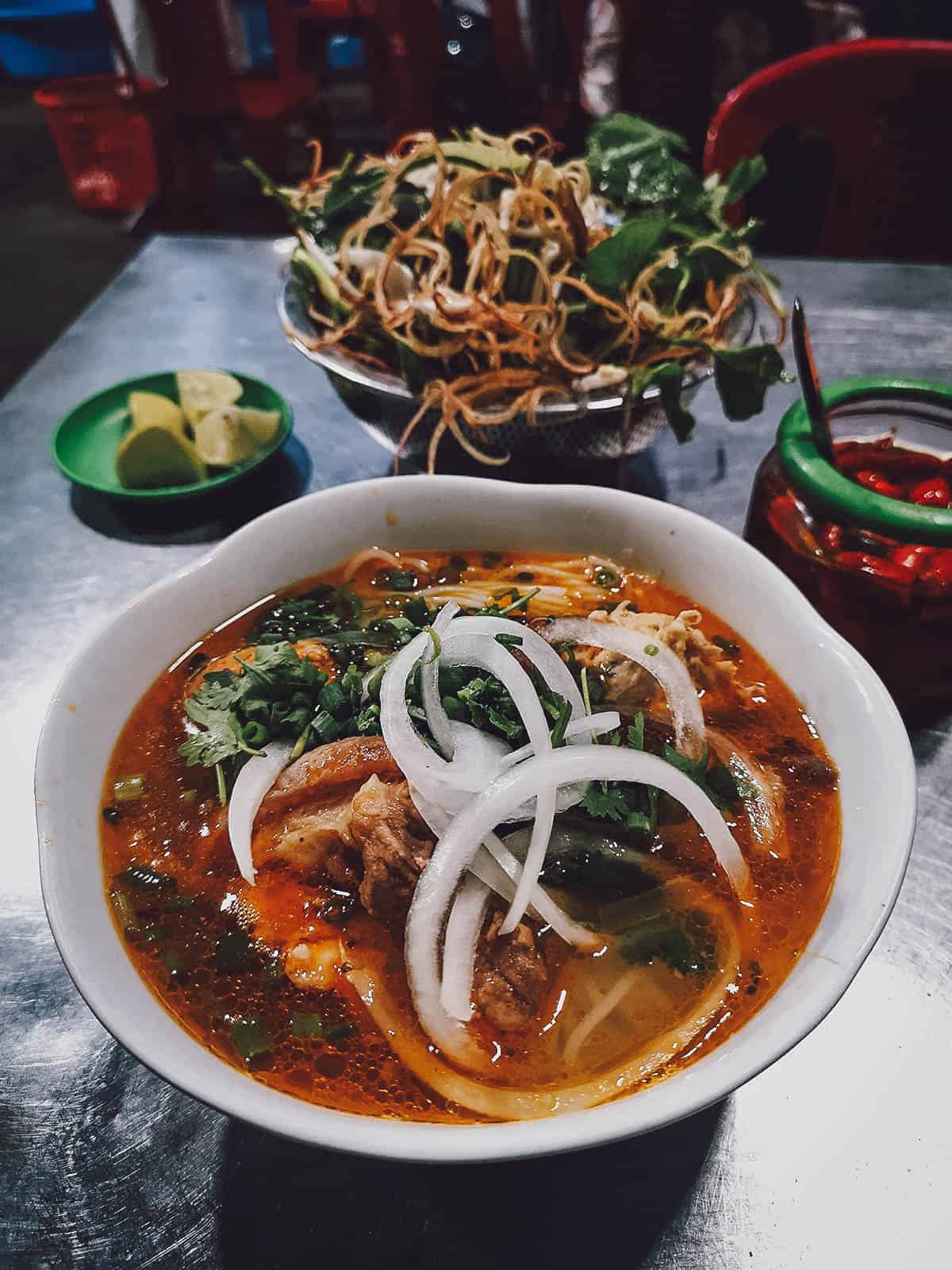 Bun bo hue at My Tam in Vietnam