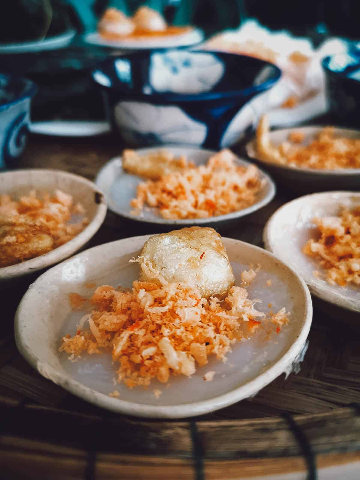Small plates of banh beo
