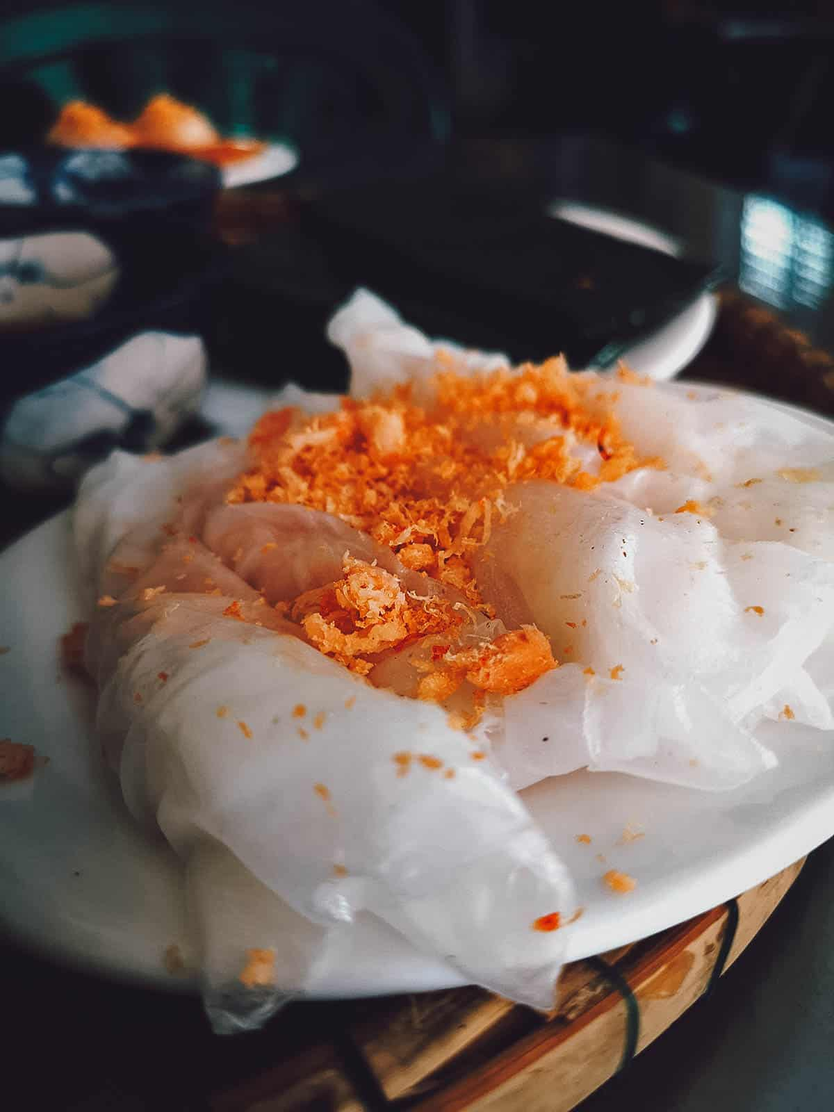 Banh uot at Hang Me Me in Vietnam