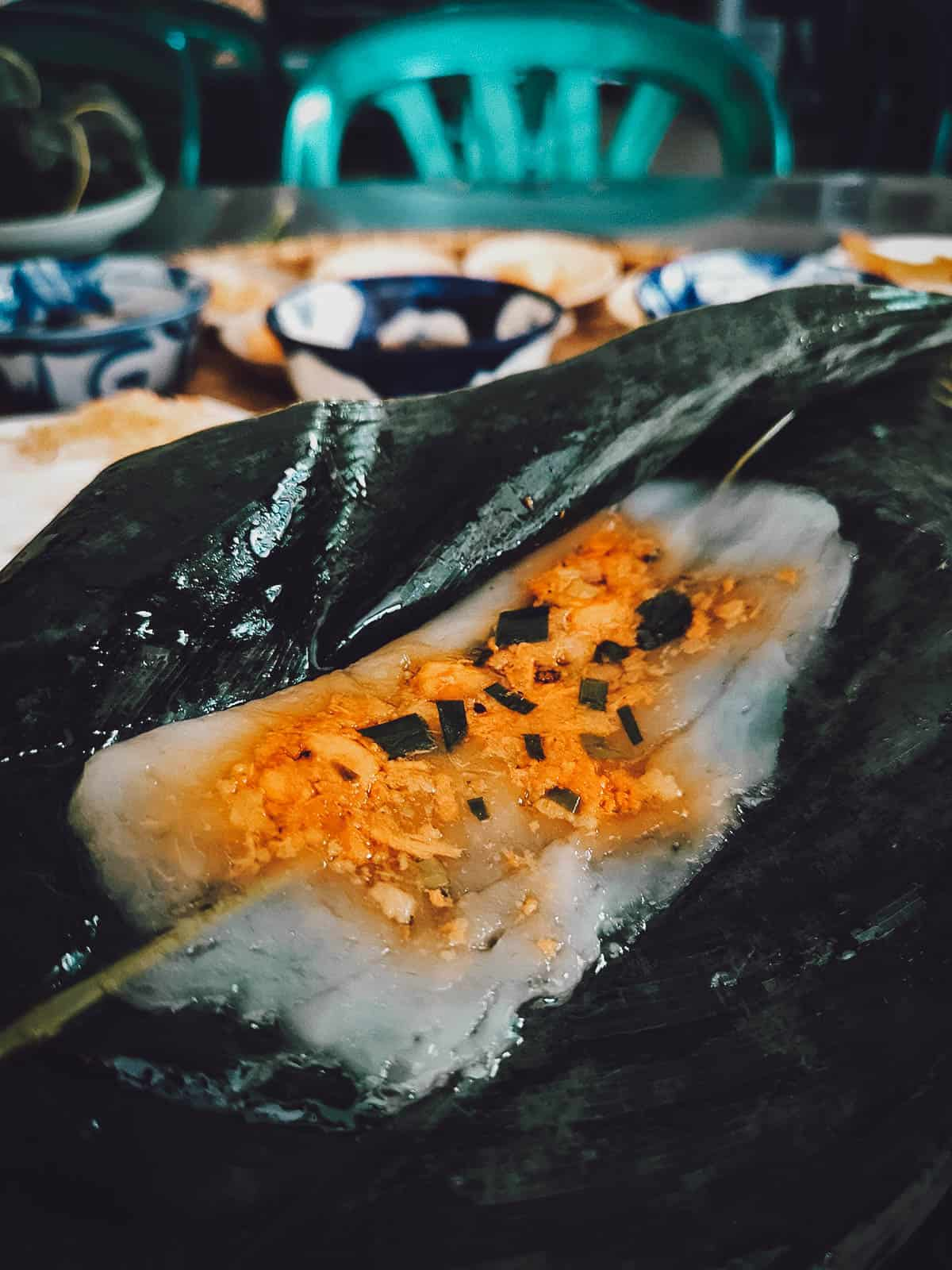 Banh nam at Hang Me Me in Vietnam