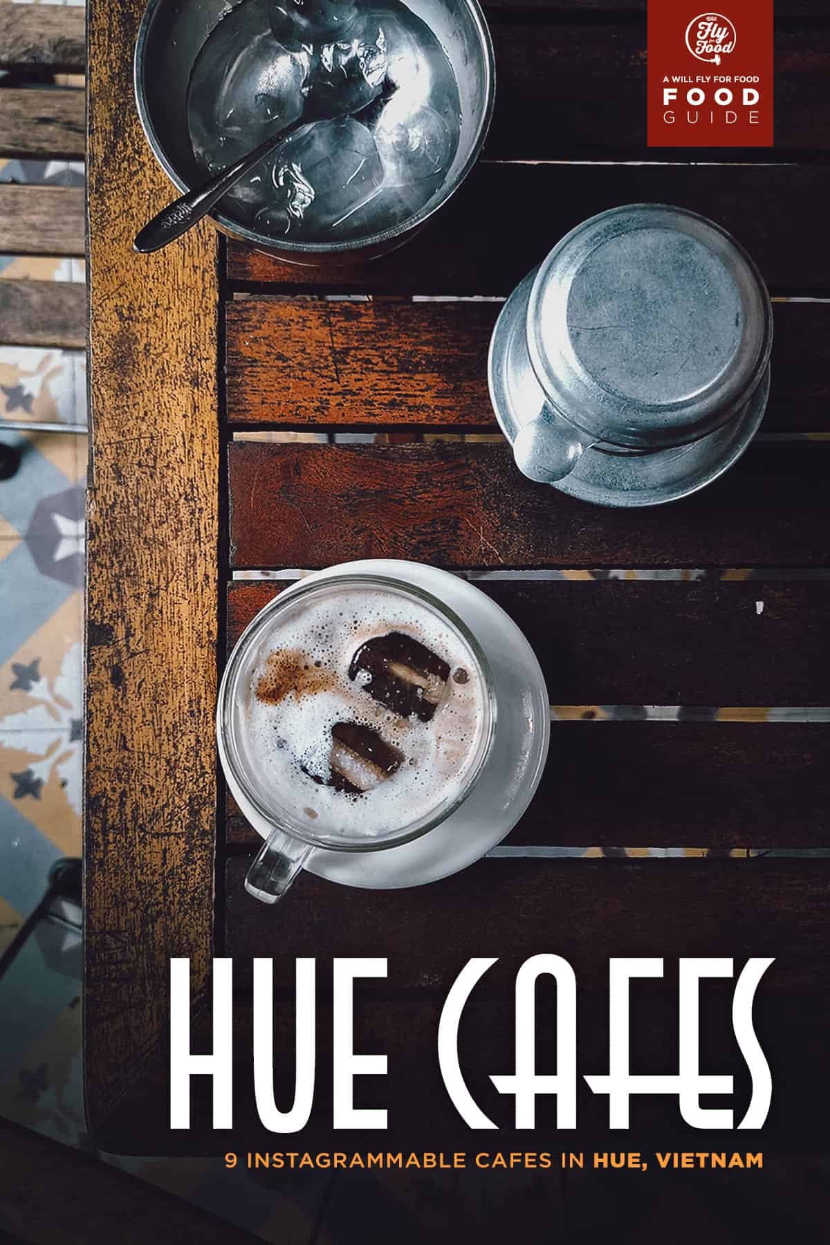 Salt coffee at Cafe Muoi in Hue, Vietnam