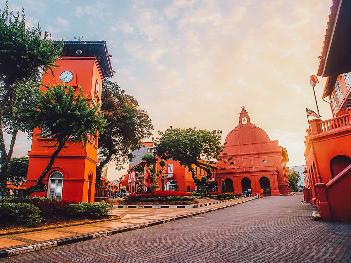 Christ Church Melaka at sunset