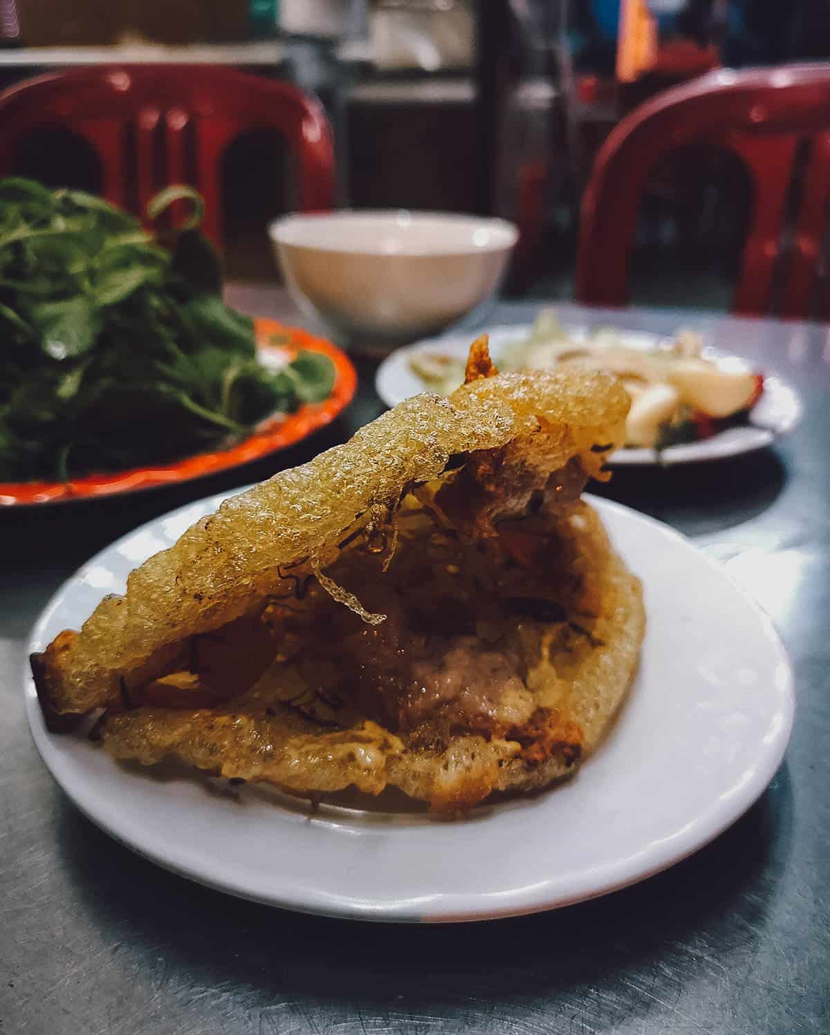 Banh khoai at Lac Thien in Hue, Vietnam