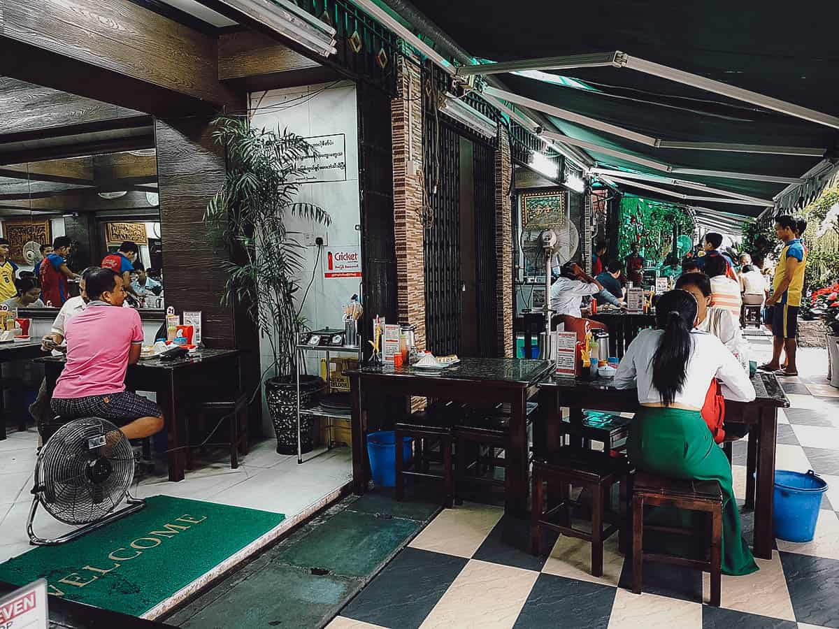 Lucky Seven Tea Shop, Yangon, Myanmar