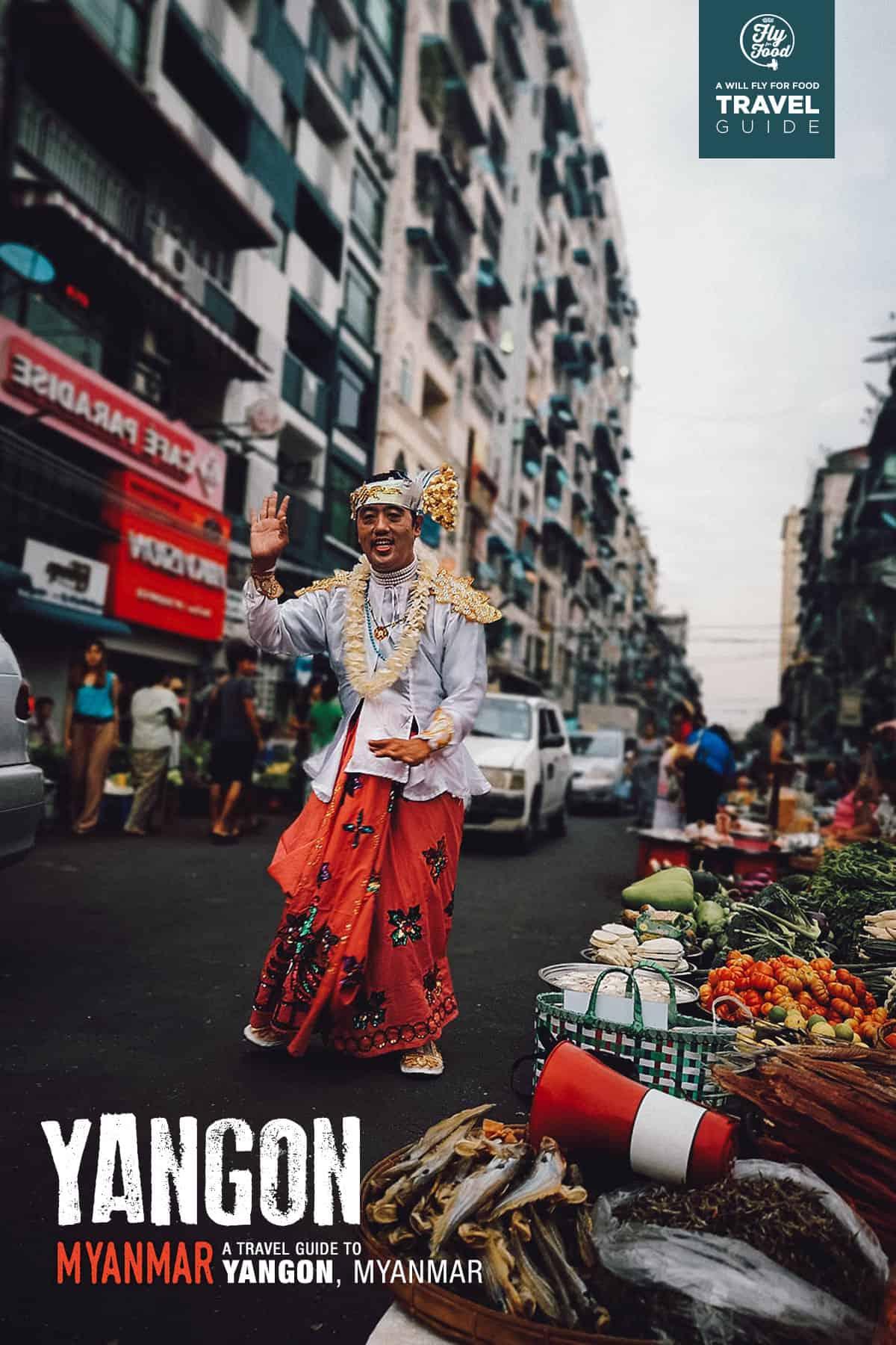 Street scene in Yangon, Myanmar