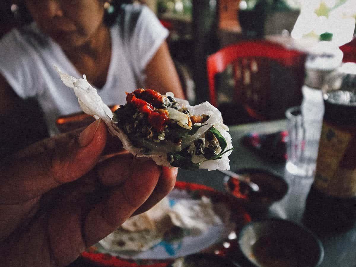 Hen tron at Quan Ben Tre in Hoi An, Vietnam