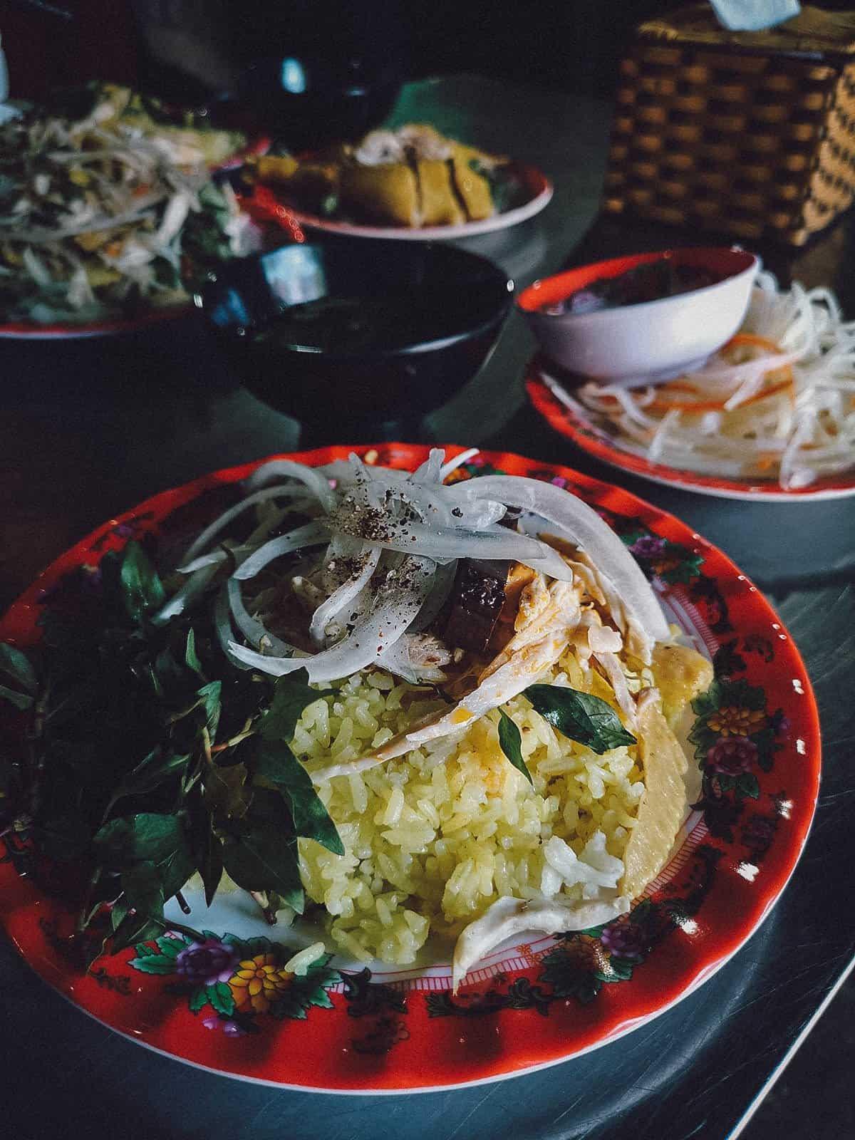 Com ga at Ba Buoi in Hoi An, Vietnam