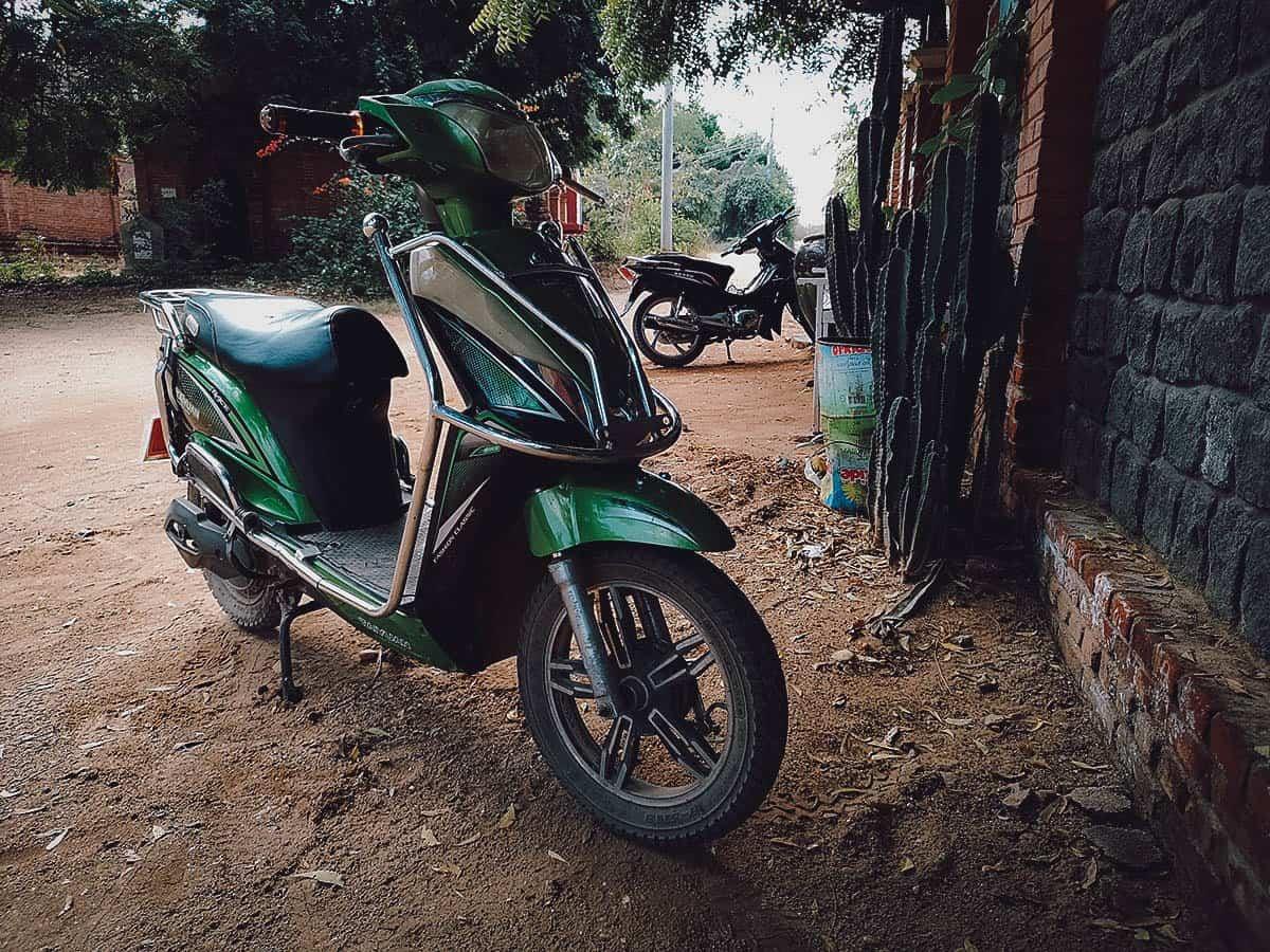 E-bike, Bagan, Myanmar
