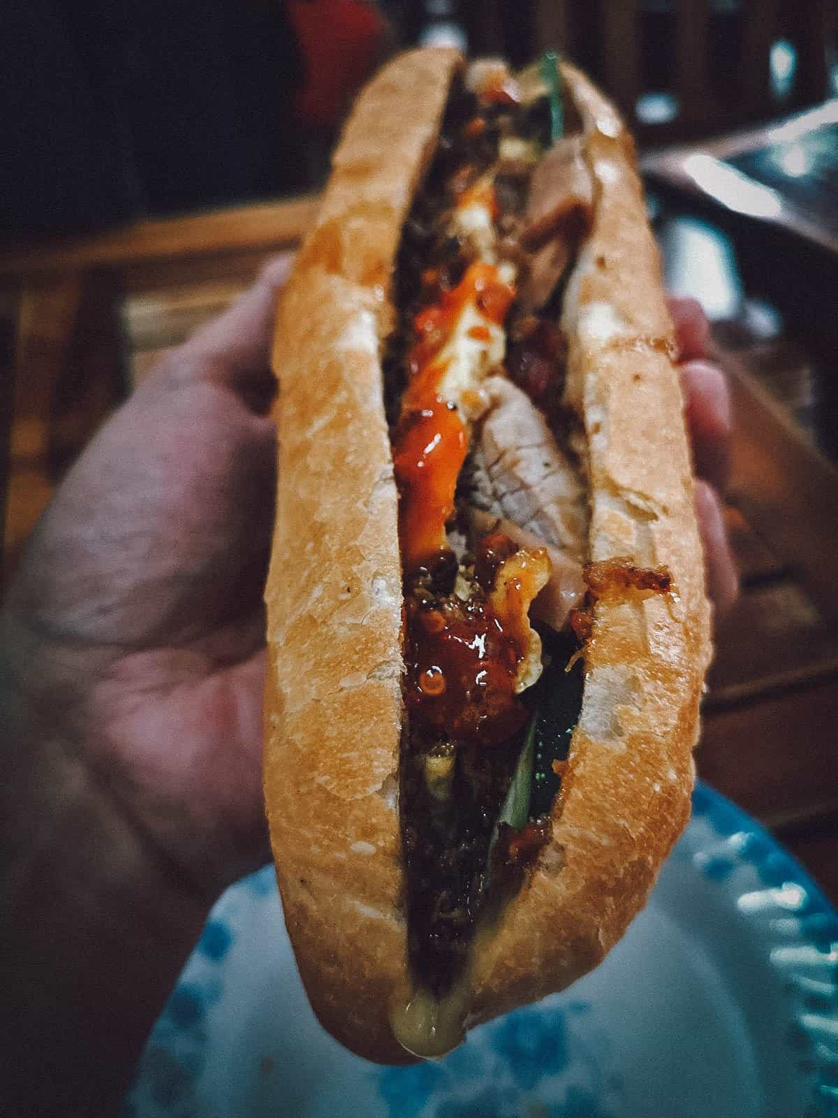 Banh Mi at Madam Khanh in Hoi An, Vietnam