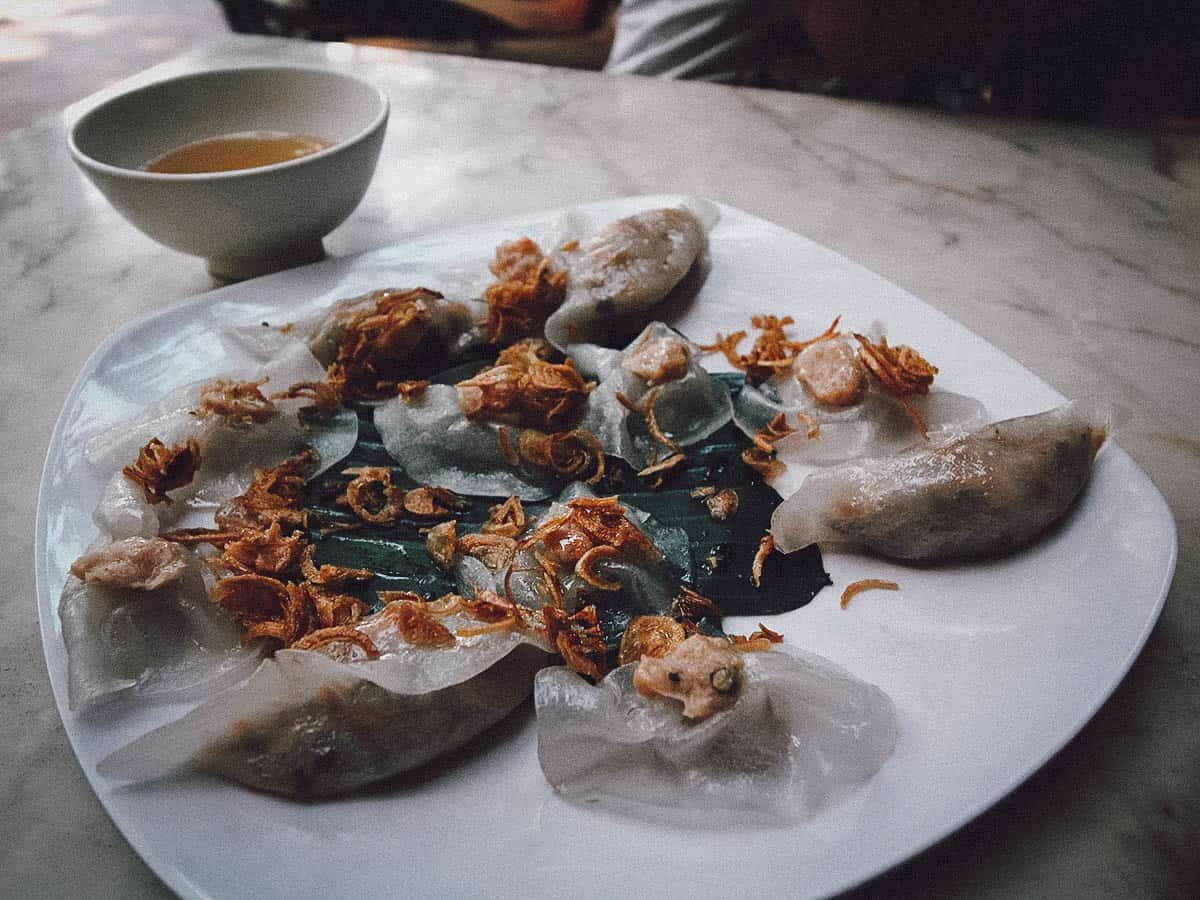 White Rose dumplings in Hoi An, Vietnam
