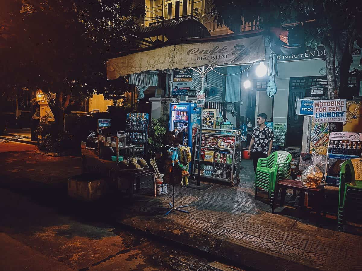Coffee shop exterior in Hoi An, Vietnam