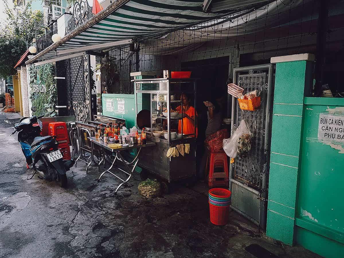Hu tieu street food stall