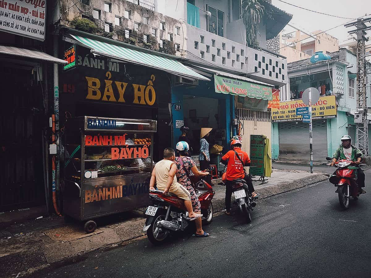 Banh Mi Bay Ho street food stall