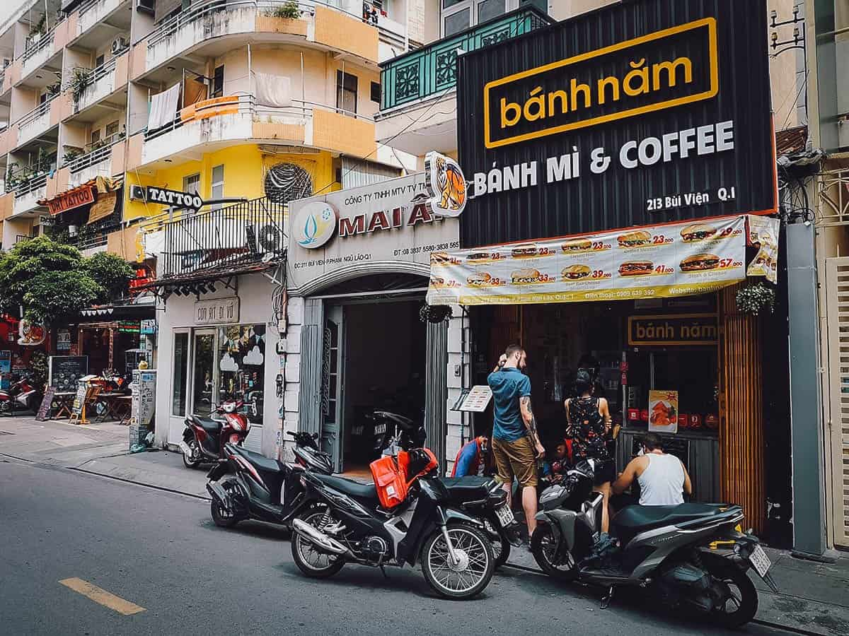 Banh Nam street food stall