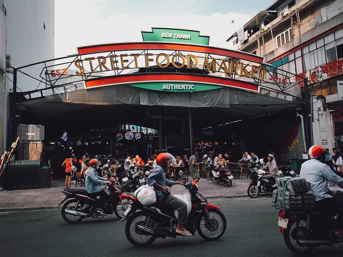 Ben Thanh Street Food Market exterior