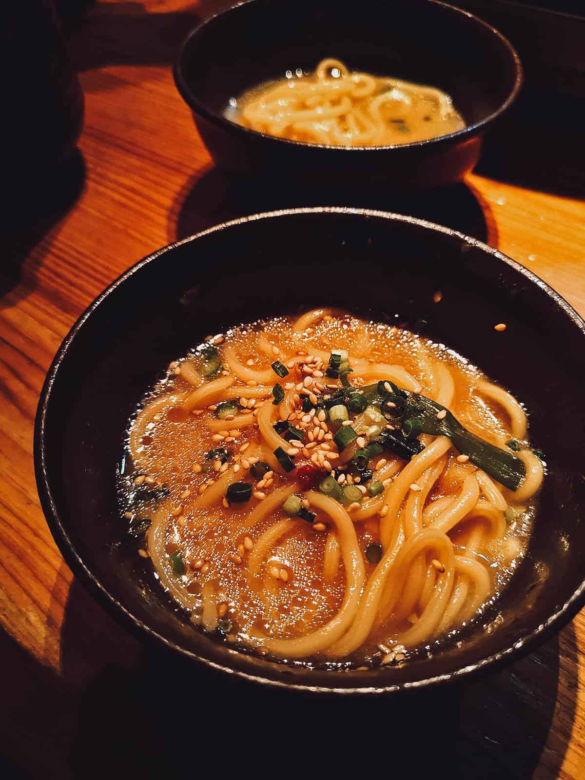 Champon noodles at Yamaya in Tokyo, Japan